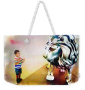 The Boy And The Lion 11 Weekender Tote Bag
