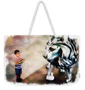 The Boy And The Lion 9 Weekender Tote Bag