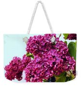 The Branch Of A Purple Lilac Weekender Tote Bag