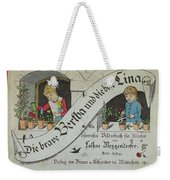 The Brave Bertha And Evil Lina Weekender Tote Bag