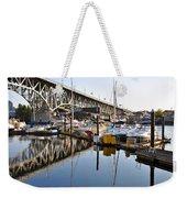 The Bridge And Marina Weekender Tote Bag