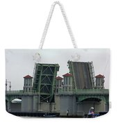 The Bridge Of Lions Open For Boats Weekender Tote Bag