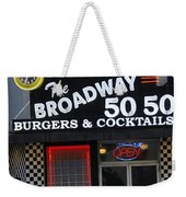 The Broadway 50 50 Weekender Tote Bag
