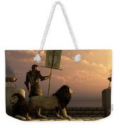 The Bronze Knight Of The Isle Of Lions Weekender Tote Bag