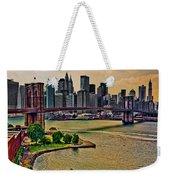 Vintage Brooklyn Bridge Weekender Tote Bag
