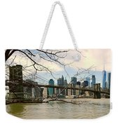 The Brooklyn Bridge  Weekender Tote Bag