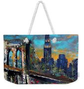 The Brooklyn Bridge Weekender Tote Bag