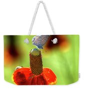 The Butterfly And The Coneflower Weekender Tote Bag