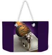 The Butterfly And The Engagement Ring Weekender Tote Bag