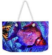 The Butterfly And The Fish Weekender Tote Bag by Joseph Mosley