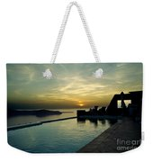 The Caldera View In Santorini Weekender Tote Bag