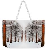 The Calm Of Winter In The Woods Weekender Tote Bag