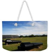 The Cannons At Fort Moultrie In Charleston Weekender Tote Bag