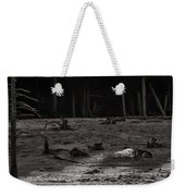 The Canyon Alphas B/w Weekender Tote Bag