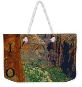The Canyon Of Zion Weekender Tote Bag