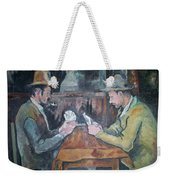 The Card Players Weekender Tote Bag