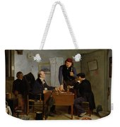 The Card Players Weekender Tote Bag by  Richard Caton Woodville