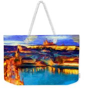 The Castle And The River Weekender Tote Bag