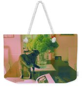 The Cat And The Hydrangea Weekender Tote Bag