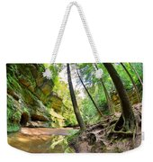 The Caves And Trail At Old Man's Cave Hocking Hills Ohio Weekender Tote Bag