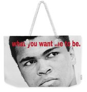 The Champ Muhammad Ali  Weekender Tote Bag