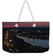 The Charles River Runs Through Boston At Sunset Boston, Ma Weekender Tote Bag