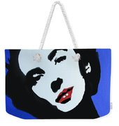 The Charming Lady In Black And White With Red Lips Weekender Tote Bag