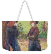 The Chat Weekender Tote Bag by Camille Pissarro