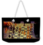 The Chess Game, New York City C. 1977 Weekender Tote Bag