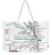 The Chicago Pubway Map Weekender Tote Bag