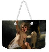 The Child Baptist In The Wilderness Weekender Tote Bag