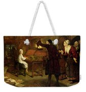 The Child Handel Discovered By His Parents Weekender Tote Bag by Margaret Isabel Dicksee