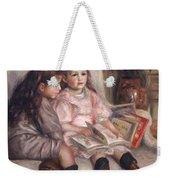 The Children Of Martial Caillebotte Weekender Tote Bag by Pierre Auguste Renoir