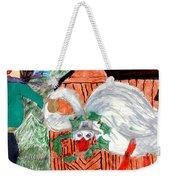 The Christmas Goose Weekender Tote Bag