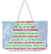 The Christmas Prayer Weekender Tote Bag