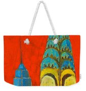 The Chrysler And The Empire State Weekender Tote Bag
