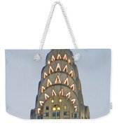 The Chrysler At Dusk Weekender Tote Bag