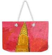 The Chrysler With Red Weekender Tote Bag