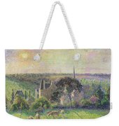 The Church And Farm Of Eragny Weekender Tote Bag