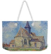 The Church At Porte-joie On The Eure By Gustave Loiseau Weekender Tote Bag