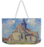The Church At Porte-joie On The Eure Weekender Tote Bag