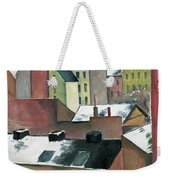 The Church Of St Mary In Bonn In Snow Weekender Tote Bag