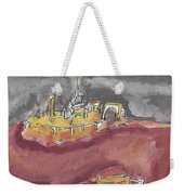 The City Of Nineveh With Stormfront Weekender Tote Bag