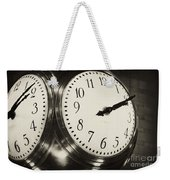 The Clock At Grand Central Weekender Tote Bag