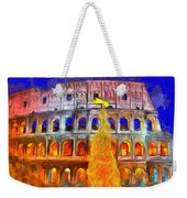 The Colosseum And Christmas  - Van Gogh Style -  - Da Weekender Tote Bag