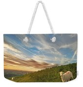 The Colours Of The Evening Weekender Tote Bag by Angel  Tarantella
