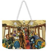 The Comfort Of The Pullman Coach Of A Victorian Passenger Train Weekender Tote Bag