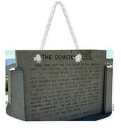 The Comstock Lode Marker Weekender Tote Bag