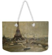 The Construction Of The Eiffel Tower Weekender Tote Bag by Paul Louis Delance