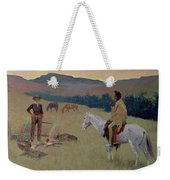 The Conversation Weekender Tote Bag by Frederic Remington
